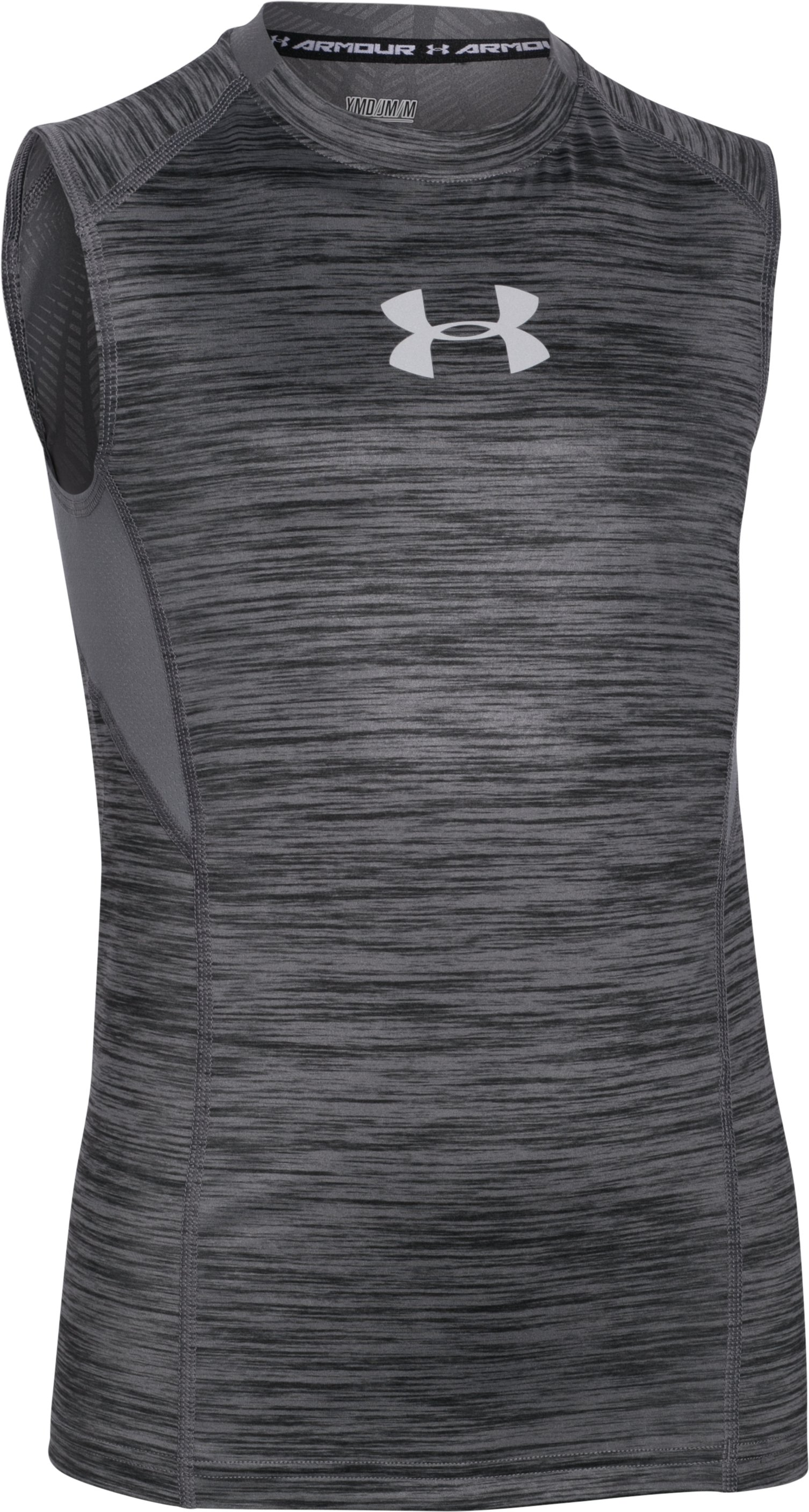 Boys' UA CoolSwitch Fitted Tank, Graphite, zoomed image