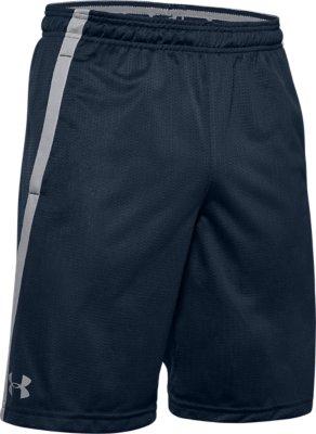 Navy Under Armour Tech Mesh Mens Training Shorts