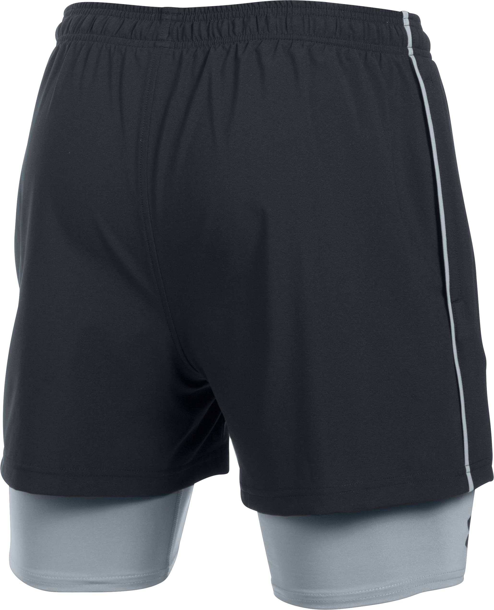 Men's UA Mirage 2-in-1 Training Shorts, Black , undefined