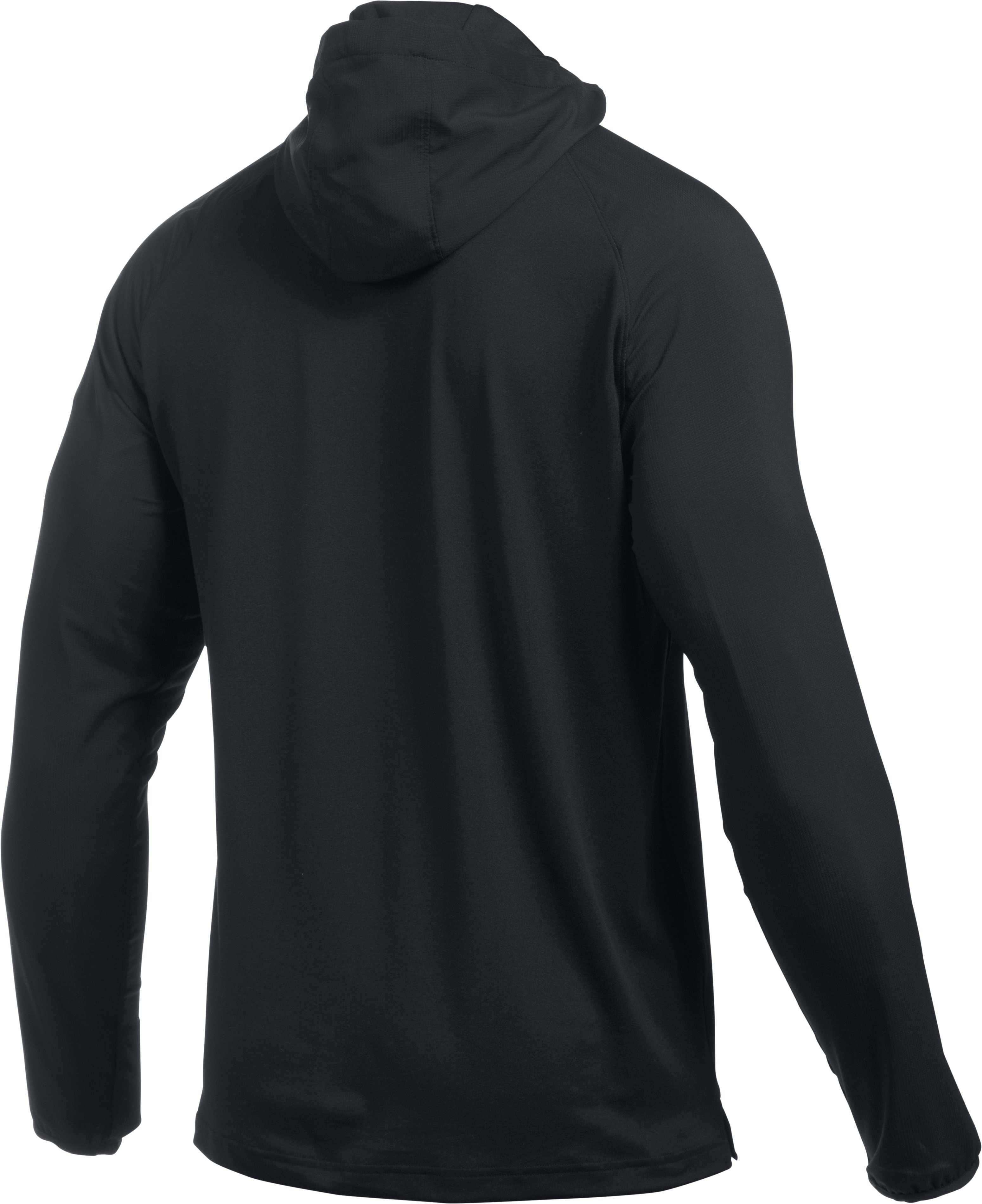 Men's UA Scope LW ¼ Zip Hoodie, Black ,