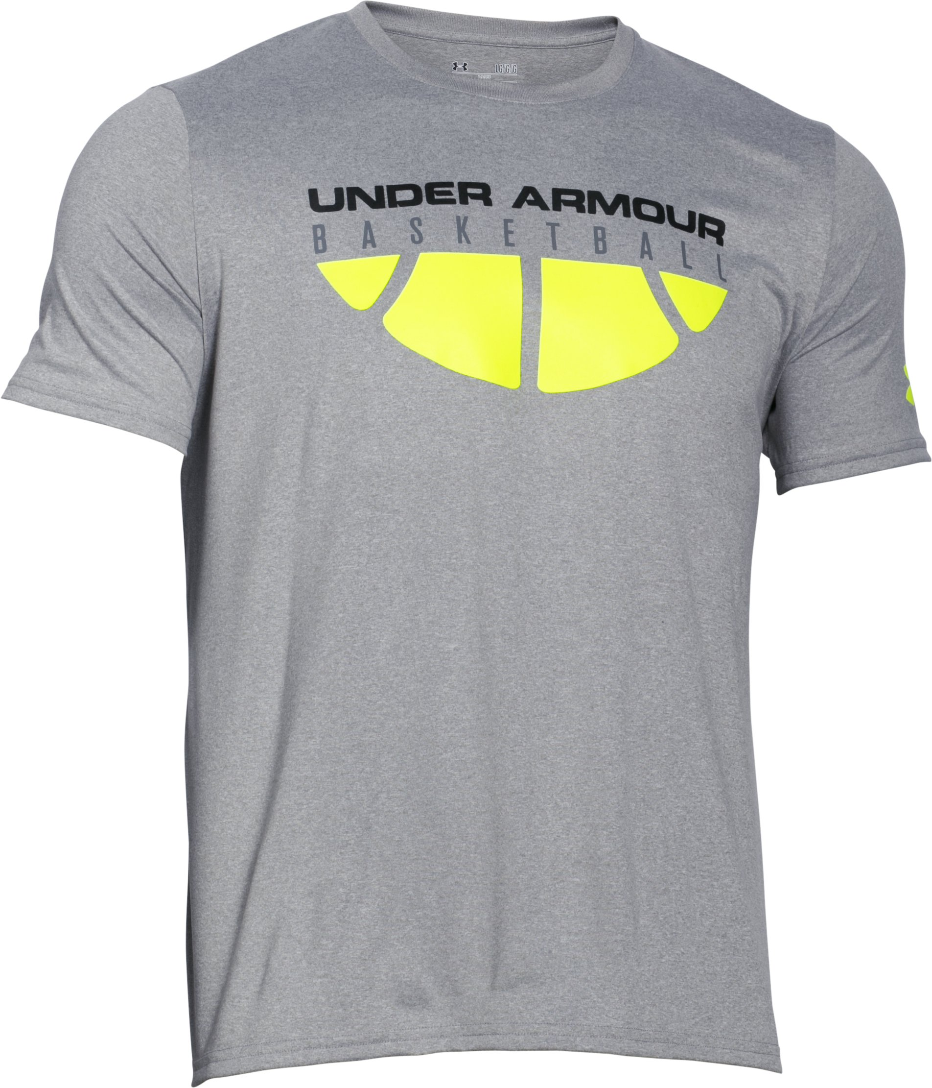 Men's UA Baseline T-Shirt, True Gray Heather,