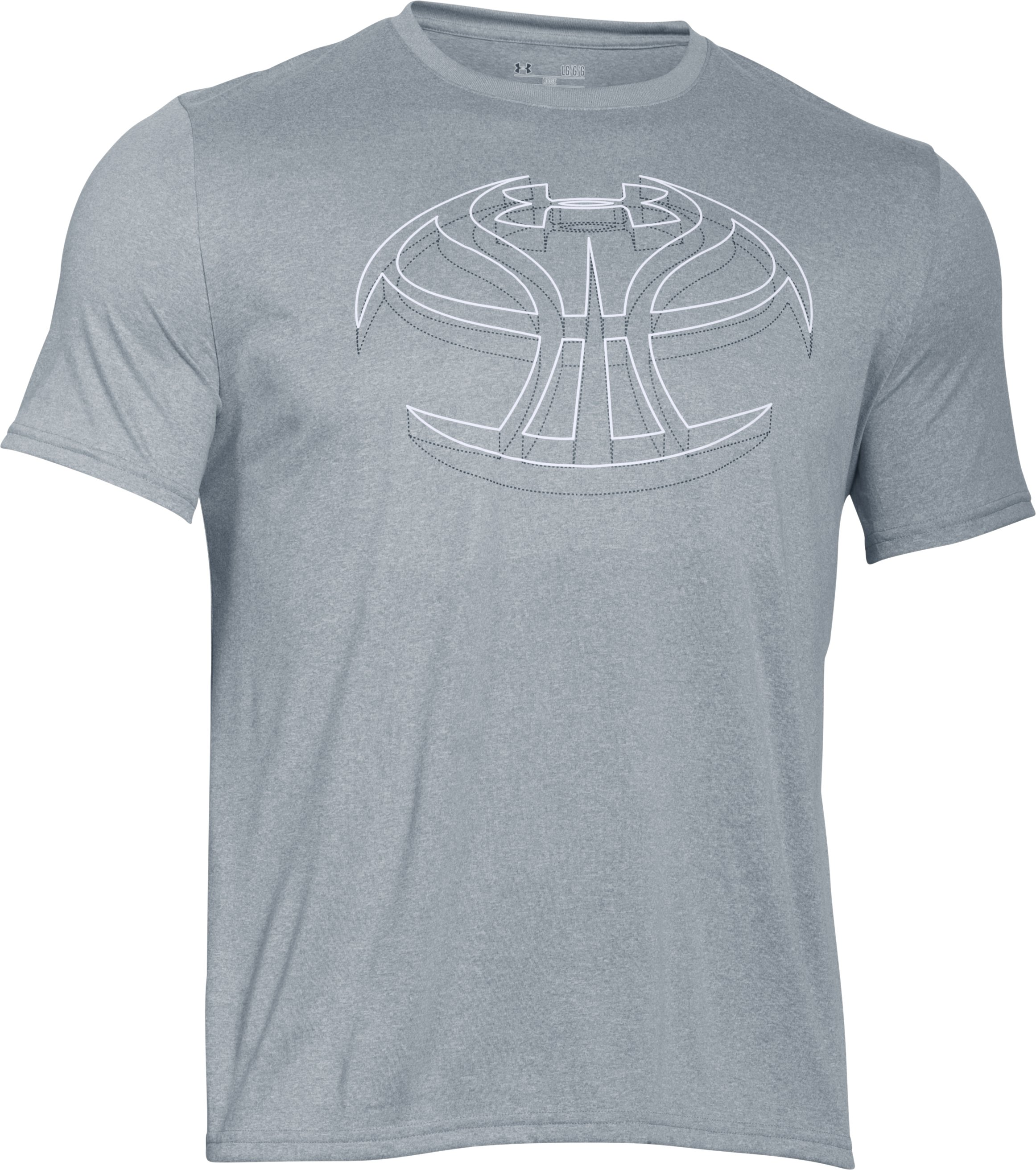 Men's UA 3D Basketball Icon T-Shirt, True Gray Heather, undefined