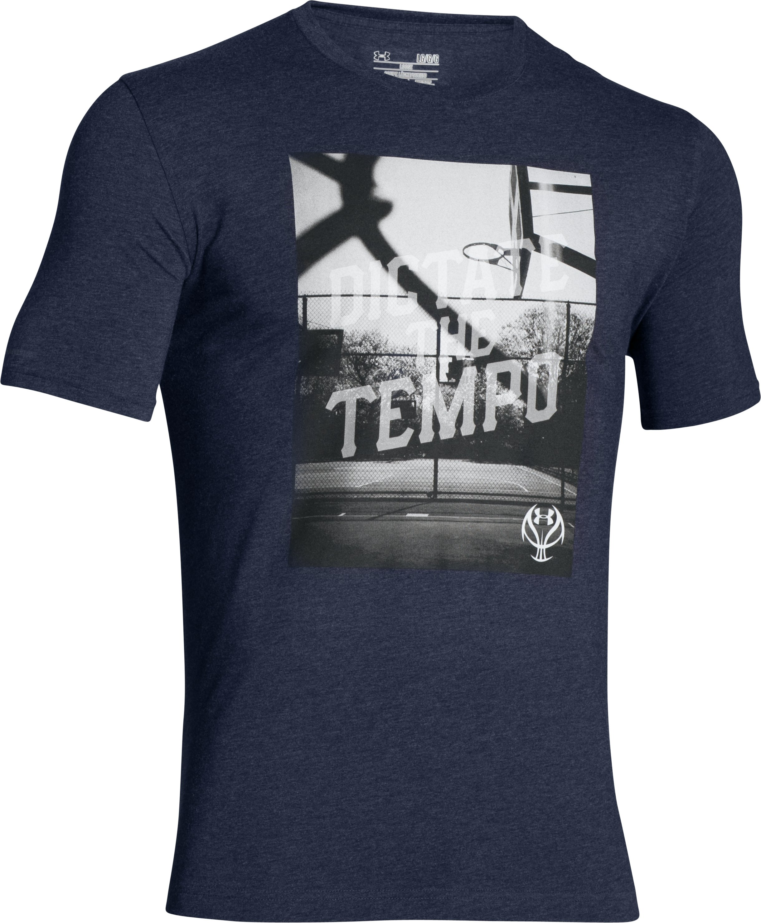 Men's UA Dictate The Tempo T-Shirt, Midnight Navy,
