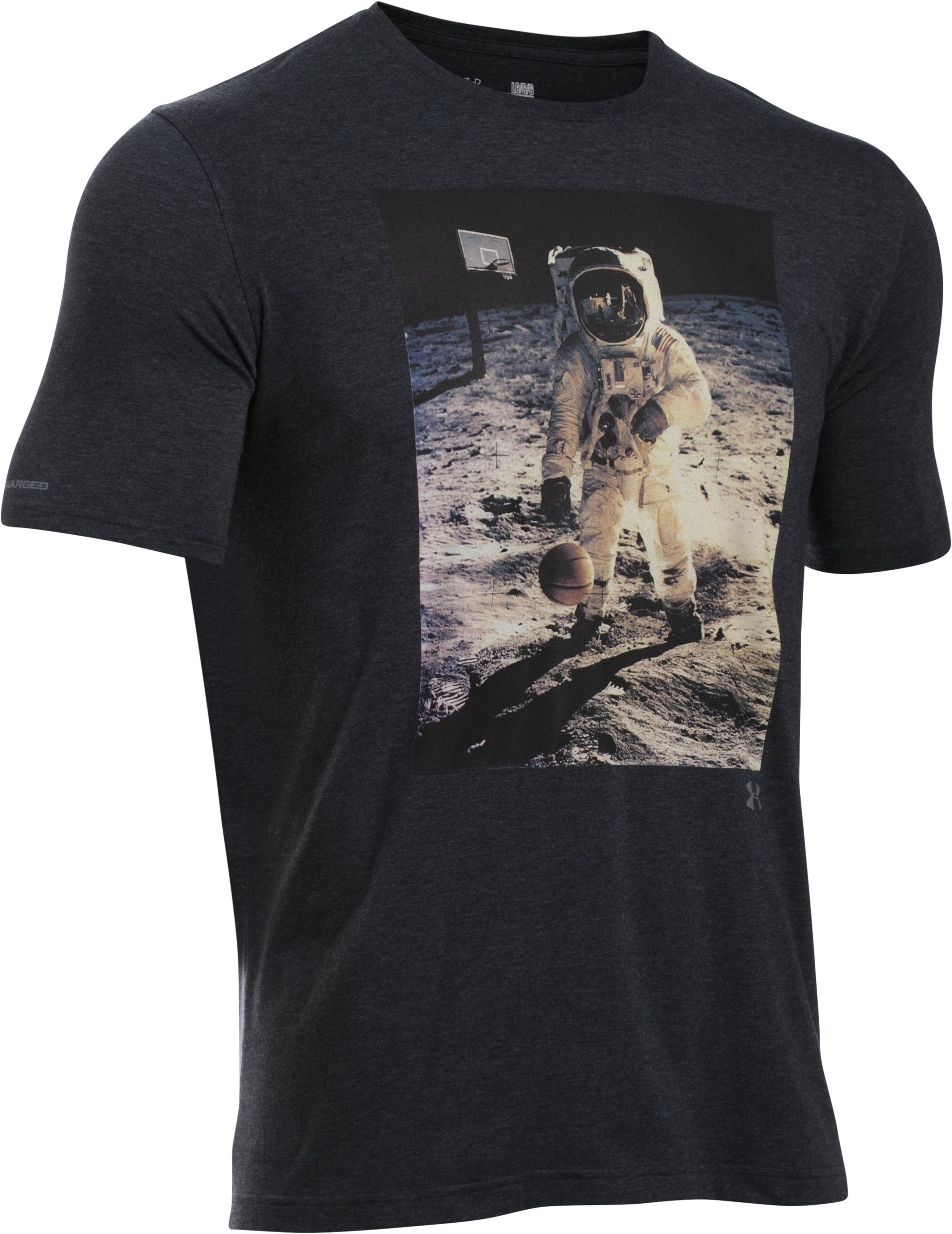 Men's UA Space Ball T-Shirt, Black , undefined