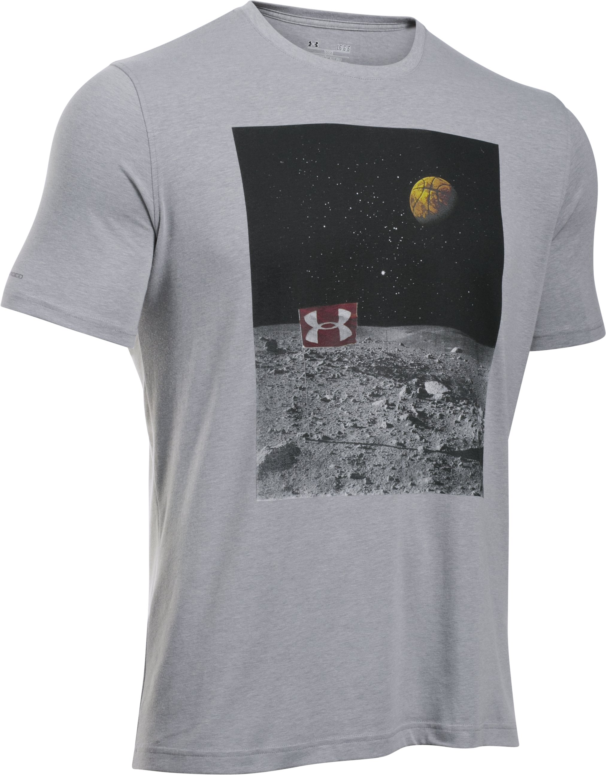 Men's UA Galaxy Game T-Shirt, True Gray Heather, undefined