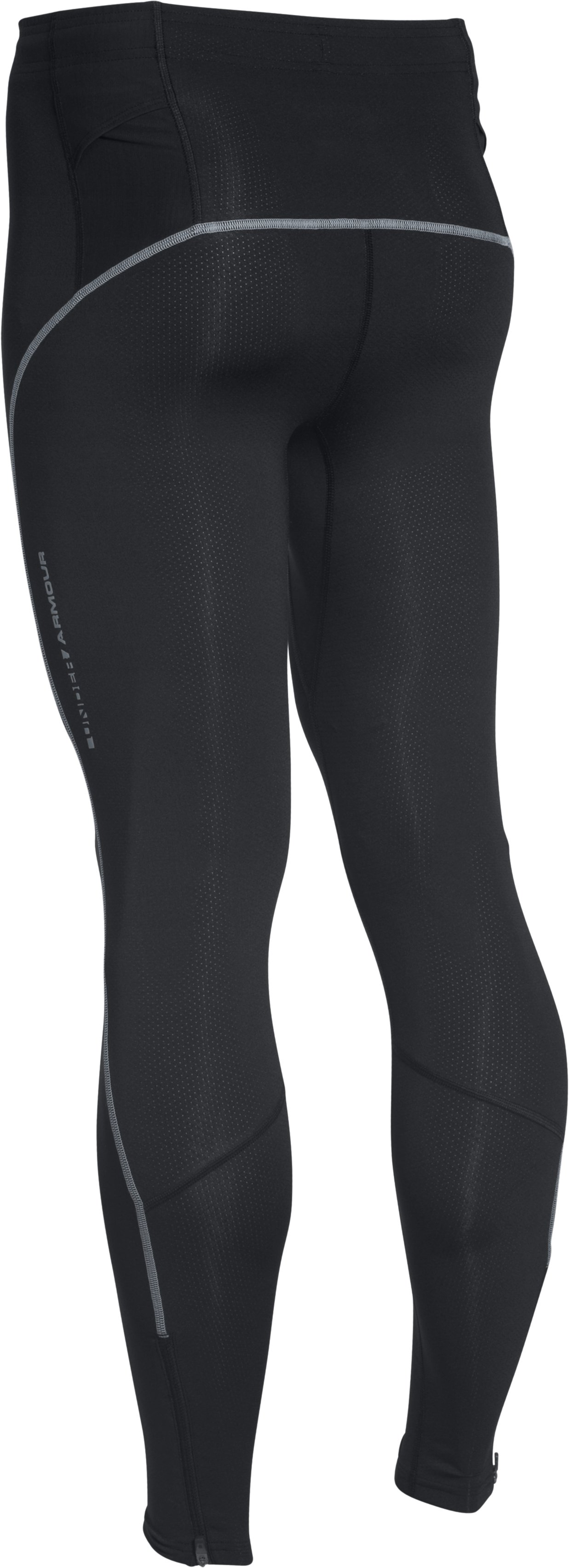 Men's UA CoolSwitch Run Compression Leggings, Black , undefined