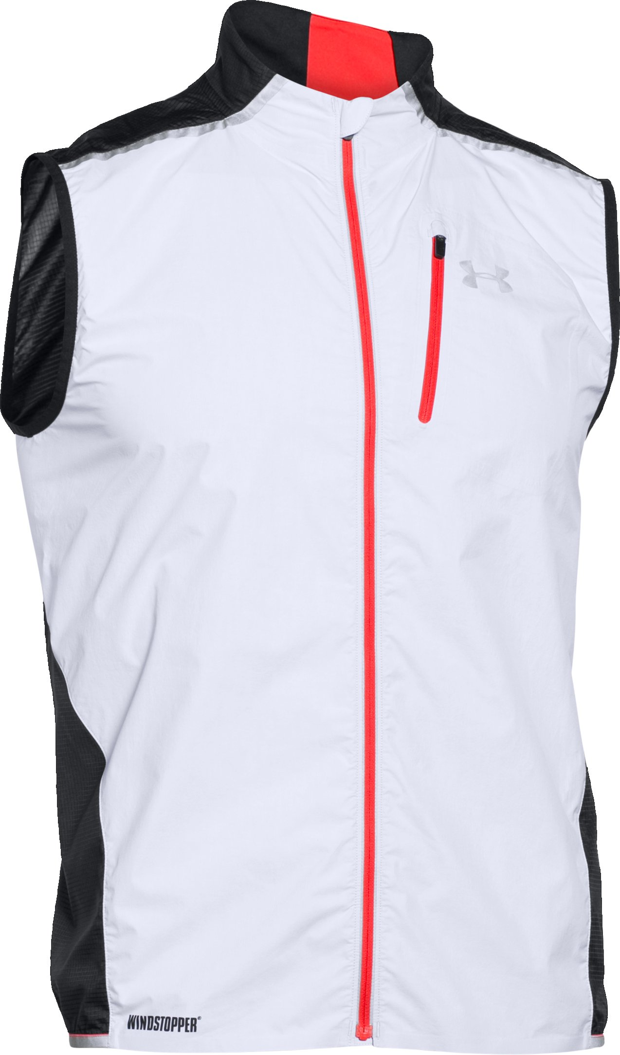 Men's UA Storm WINDSTOPPER® Run Vest, White,
