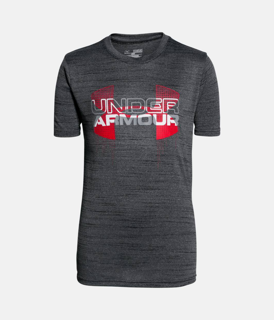 Boys ua tech big logo hybrid t shirt under armour us for Under armour i will shirt