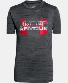 Best Seller Boys' UA Tech™ Big Logo Hybrid T-Shirt LIMITED TIME: FREE SHIPPING 25 Colors $24.99
