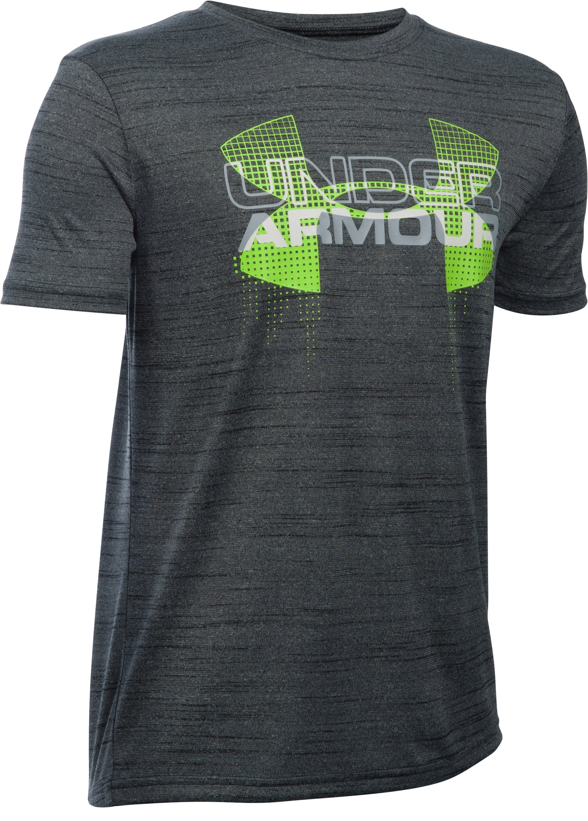 Boys' UA Tech™ Big Logo Hybrid T-Shirt, Black