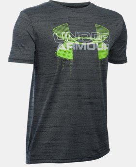 Best Seller Boys' UA Tech™ Big Logo Hybrid T-Shirt  4 Colors $18.99