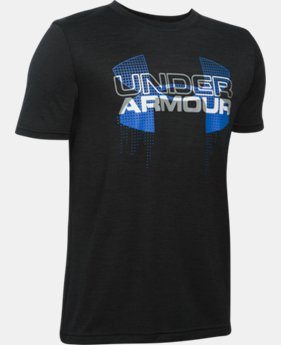 Best Seller Boys' UA Tech™ Big Logo Hybrid T-Shirt  4 Colors $19.99