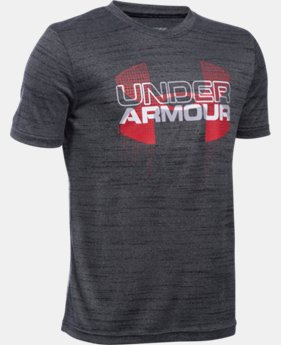 Boys' UA Tech™ Big Logo Hybrid T-Shirt LIMITED TIME: FREE SHIPPING 7 Colors $29.99