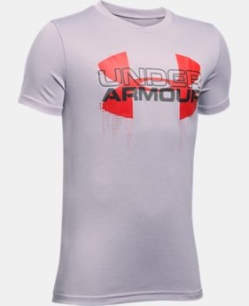 Boys' UA Tech™ Big Logo Hybrid T-Shirt LIMITED TIME: FREE U.S. SHIPPING 5 Colors $18.74