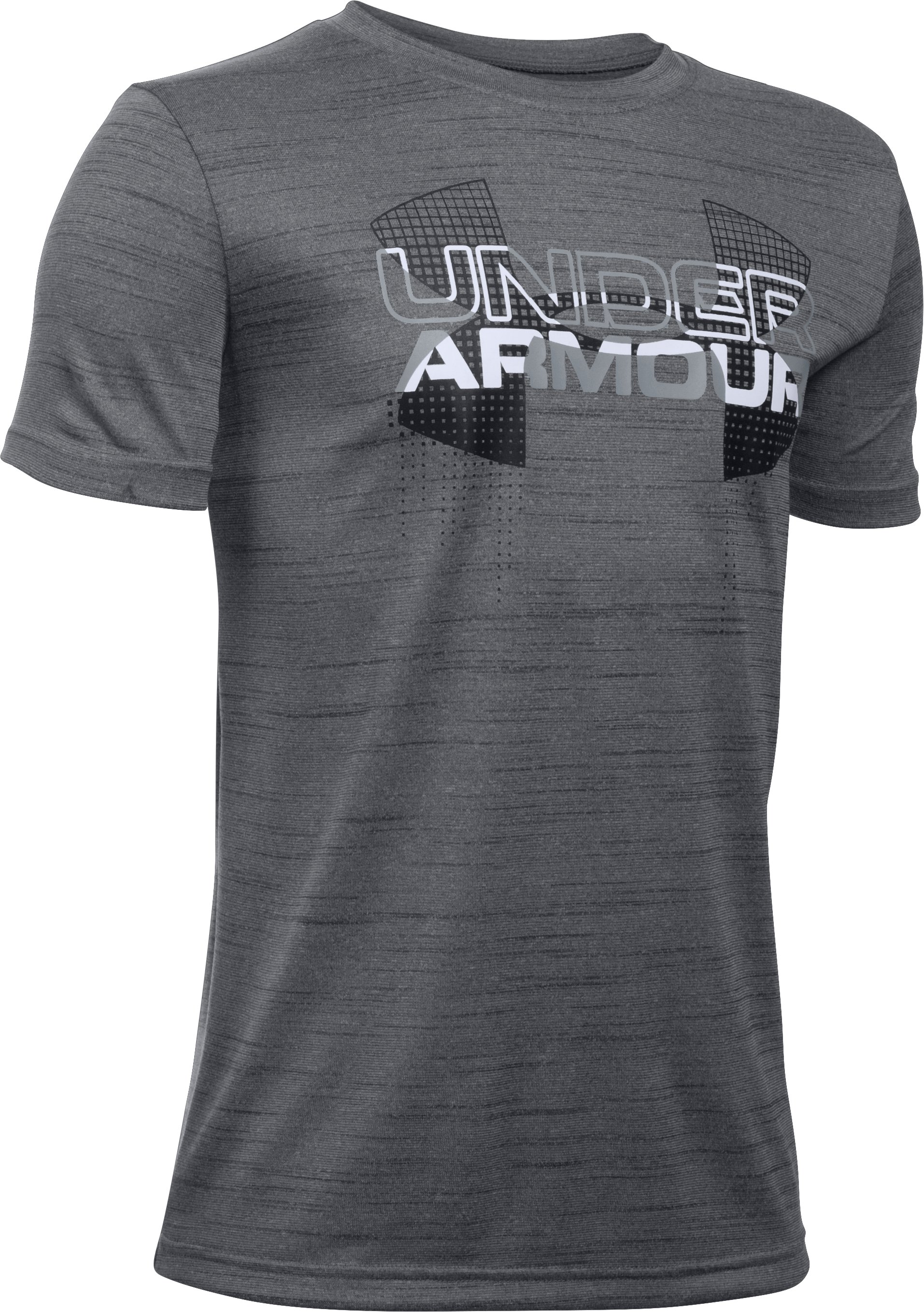 Boys' UA Tech™ Big Logo Hybrid T-Shirt, Graphite, undefined
