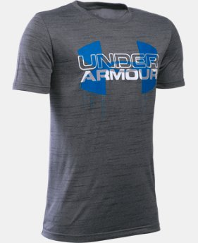 Boys' UA Tech™ Big Logo Hybrid T-Shirt LIMITED TIME: FREE SHIPPING 9 Colors $29.99
