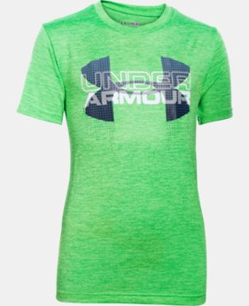 Best Seller Boys' UA Tech™ Big Logo Hybrid T-Shirt LIMITED TIME: FREE SHIPPING 7 Colors $24.99