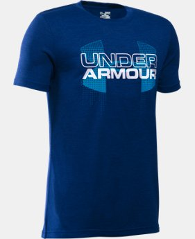 Boys' UA Tech™ Big Logo Hybrid T-Shirt LIMITED TIME: FREE SHIPPING 15 Colors $29.99