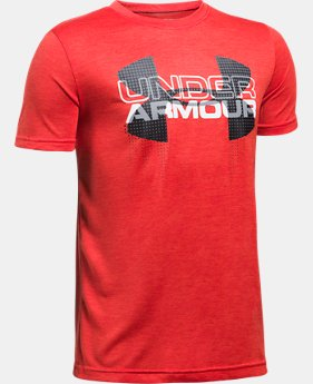Boys' UA Tech™ Big Logo Hybrid T-Shirt LIMITED TIME: FREE U.S. SHIPPING 6 Colors $18.74
