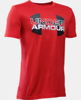 Boys' UA Tech™ Big Logo Hybrid T-Shirt LIMITED TIME: FREE SHIPPING 3 Colors $29.99