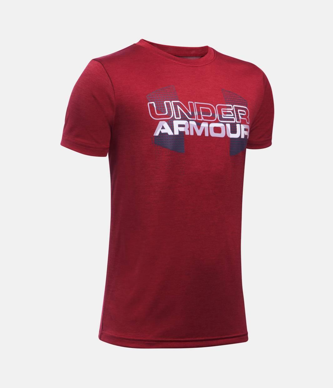 Boys 39 ua tech big logo hybrid t shirt under armour us for Under armour company shirts