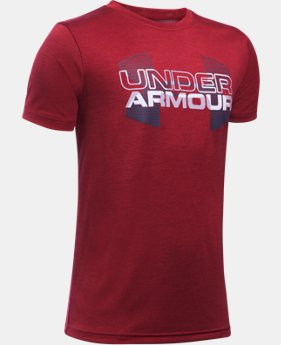 Boys' UA Tech™ Big Logo Hybrid T-Shirt LIMITED TIME: FREE U.S. SHIPPING 17 Colors $18.74
