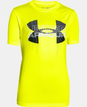 Boys' UA Tech™ Big Logo Hybrid T-Shirt LIMITED TIME: FREE U.S. SHIPPING 4 Colors $18.74