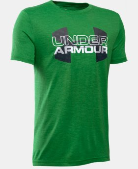 Boys' UA Tech™ Big Logo Hybrid T-Shirt   $24.99