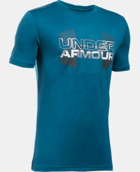 Boys' UA Tech™ Big Logo Hybrid T-Shirt LIMITED TIME: FREE U.S. SHIPPING 8 Colors $18.74