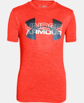Boys' UA Tech™ Big Logo Hybrid T-Shirt LIMITED TIME: FREE U.S. SHIPPING  $14.24 to $24.99