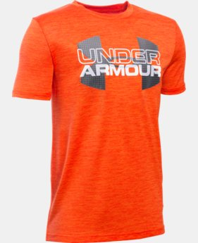 Boys' UA Tech™ Big Logo Hybrid T-Shirt LIMITED TIME: FREE SHIPPING  $29.99