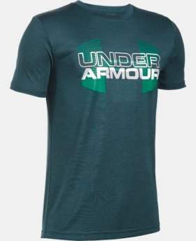 New Arrival  Boys' UA Tech™ Big Logo Hybrid T-Shirt LIMITED TIME: FREE SHIPPING 5 Colors $29.99