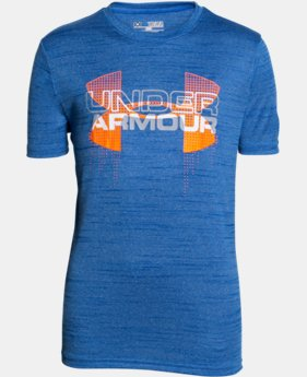 Best Seller Boys' UA Tech™ Big Logo Hybrid T-Shirt  2 Colors $19.99