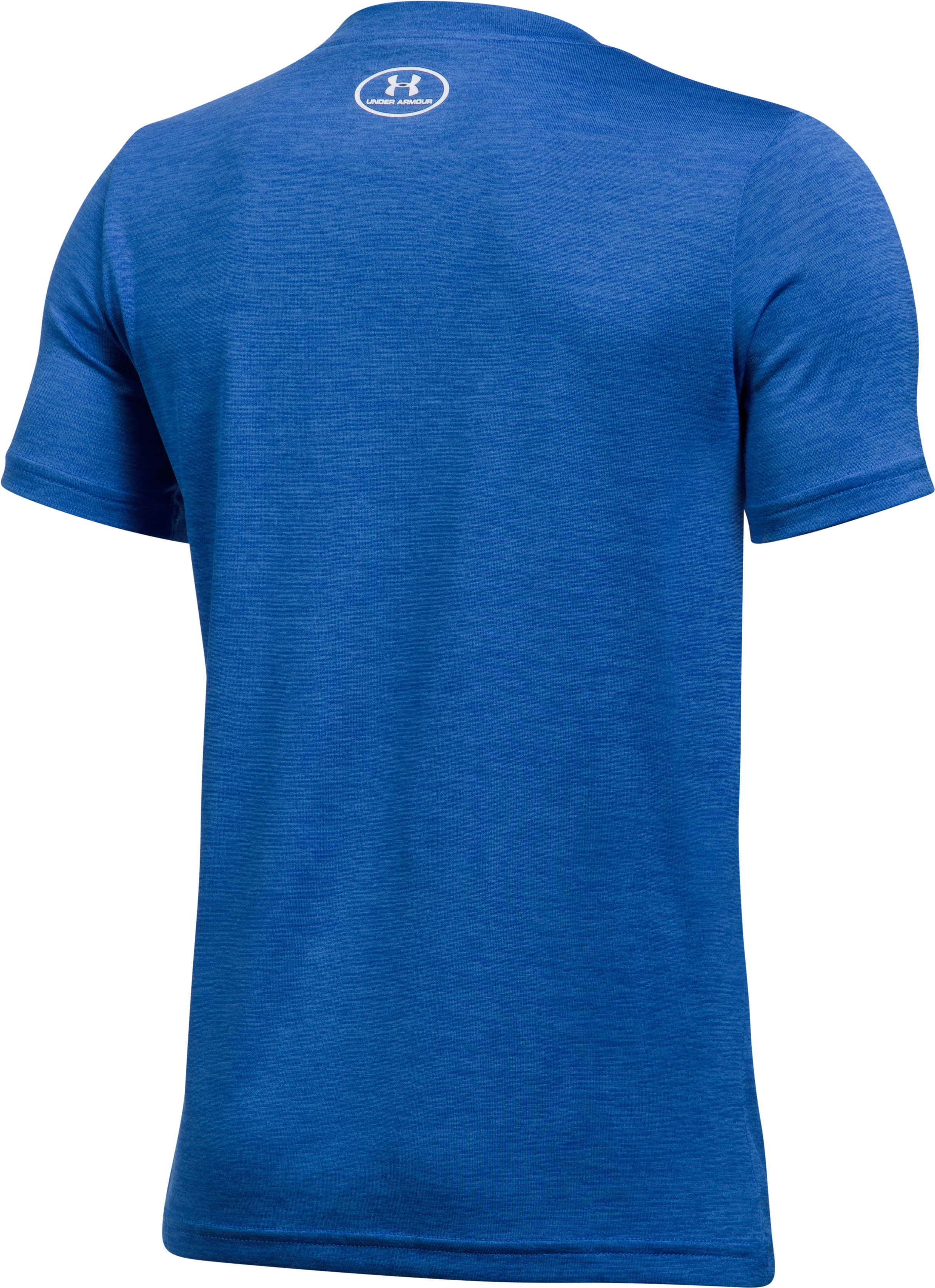 Boys' UA Tech™ Big Logo Hybrid T-Shirt, ULTRA BLUE,