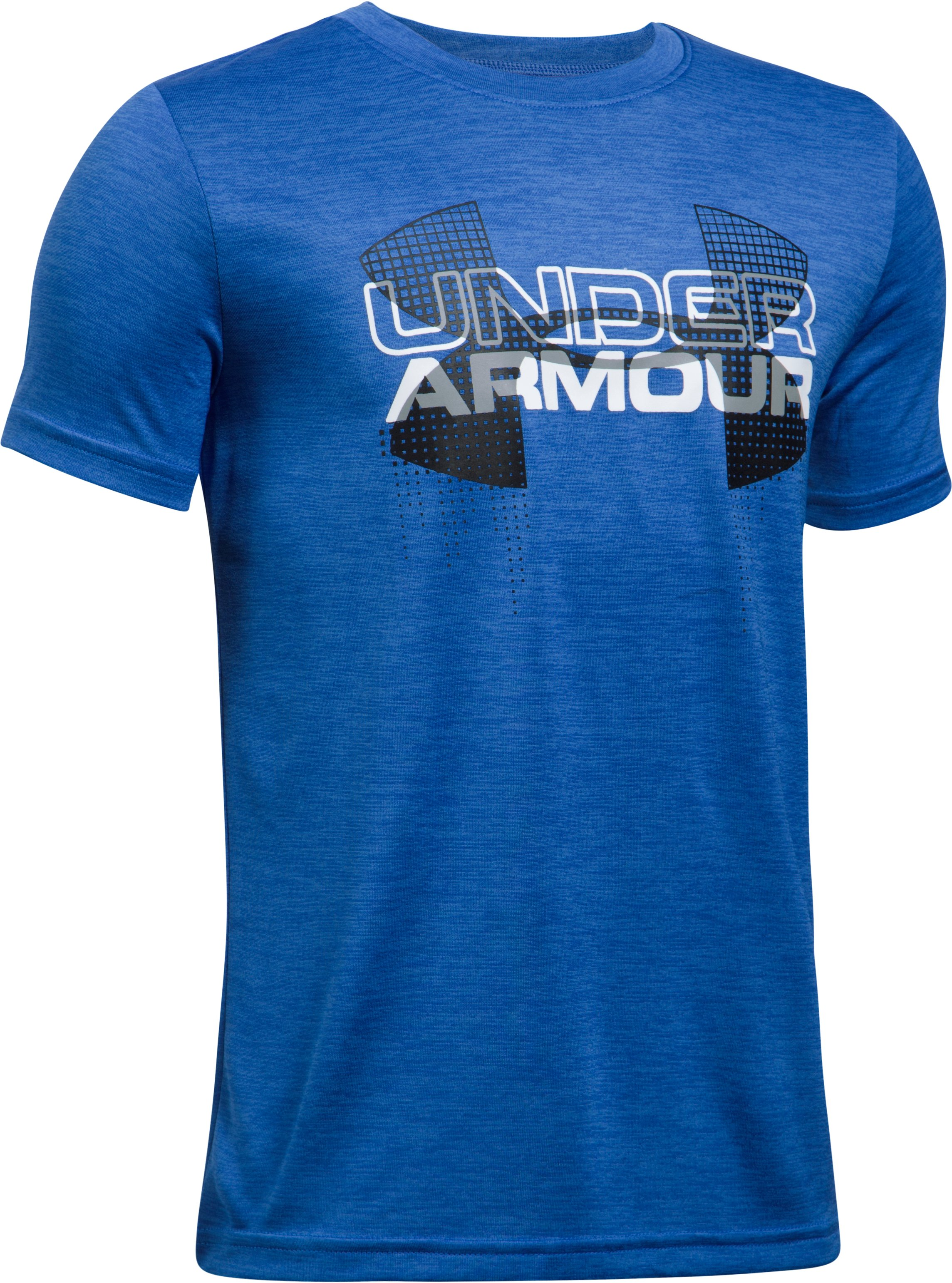 Boys' UA Tech™ Big Logo Hybrid T-Shirt, ULTRA BLUE