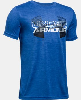 Boys' UA Tech™ Big Logo Hybrid T-Shirt LIMITED TIME: FREE SHIPPING 20 Colors $29.99