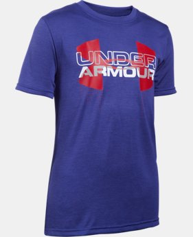 Best Seller Boys' UA Tech™ Big Logo Hybrid T-Shirt   $24.99