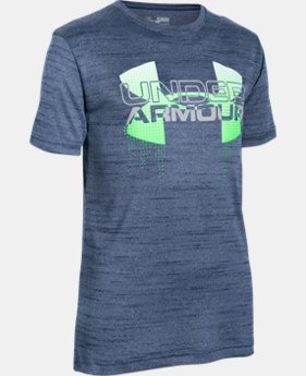 New Arrival  Boys' UA Tech™ Big Logo Hybrid T-Shirt LIMITED TIME: FREE SHIPPING 1 Color $29.99
