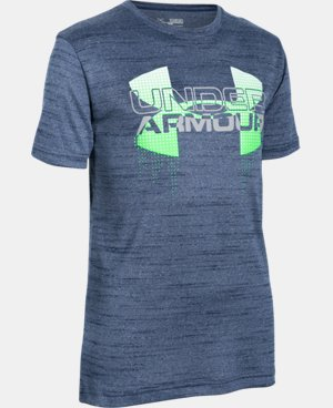 Boys' UA Tech™ Big Logo Hybrid T-Shirt LIMITED TIME: FREE SHIPPING 1 Color $22.49