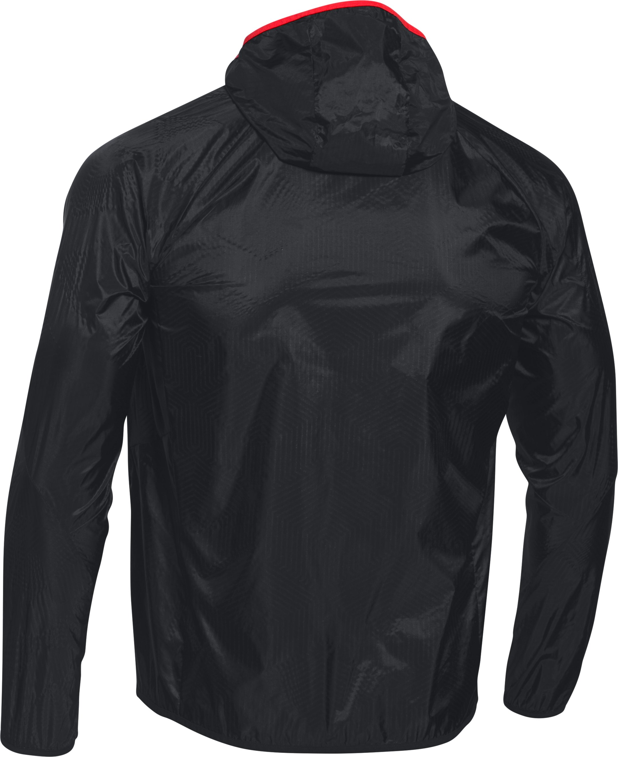 Men's UA ColdGear® Infrared Unstoppable Run Shell Jacket, Black , undefined