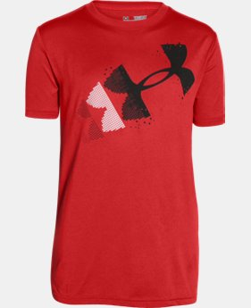 Boys' UA Rising Pixelated Logo T-Shirt   $22.99