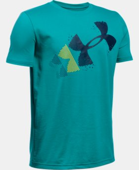 Best Seller Boys' UA Rising Pixelated Logo T-Shirt LIMITED TIME: FREE SHIPPING 1 Color $19.99