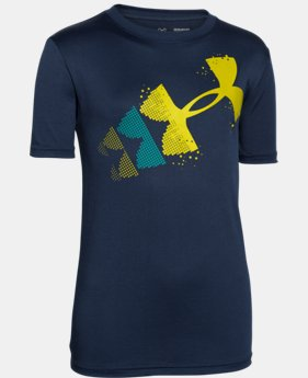Boys' UA Rising Pixelated Logo T-Shirt