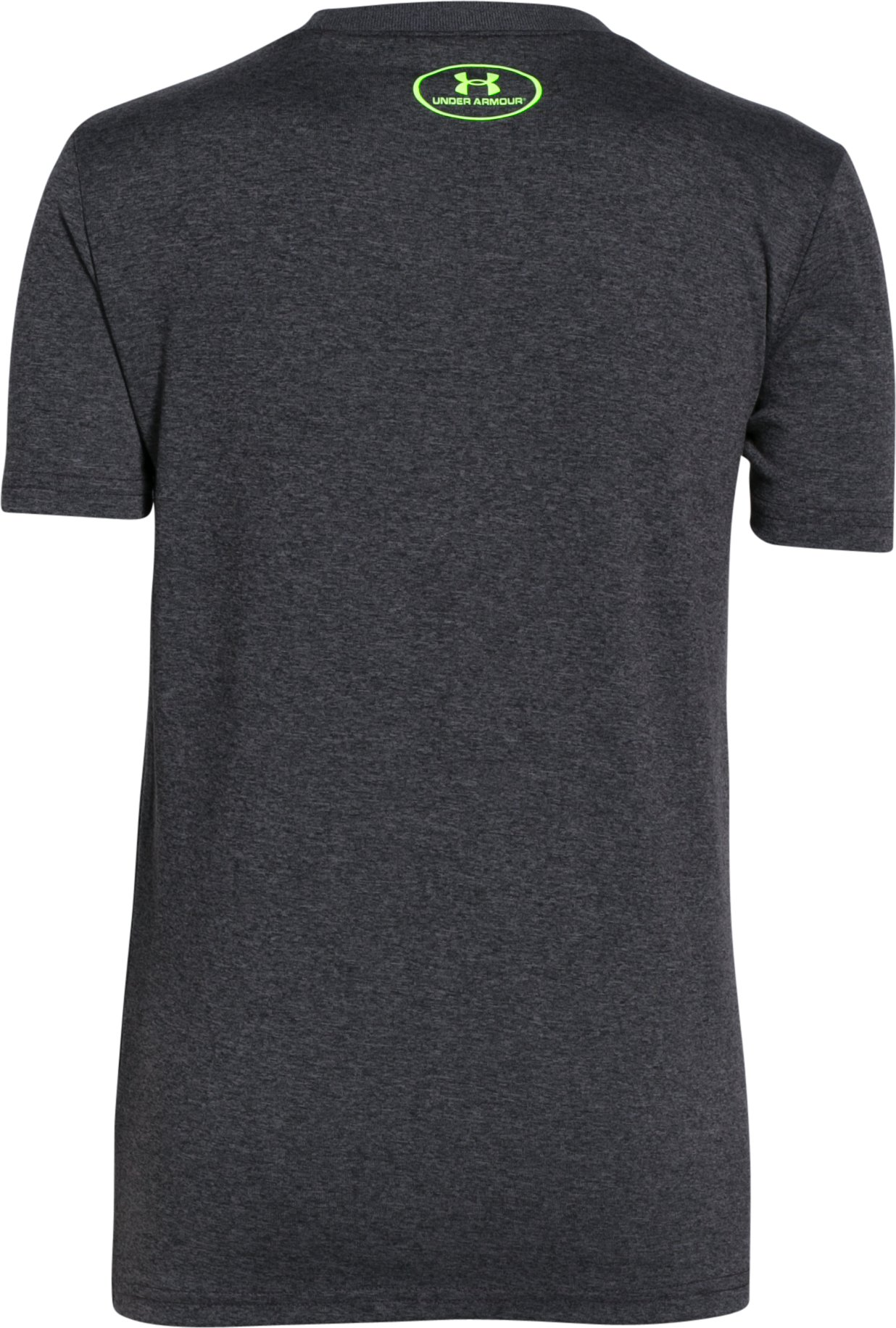 Boys' UA Dual Logo T-Shirt, Carbon Heather, undefined