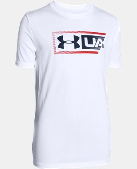 Boys' UA Dual Logo T-Shirt  1 Color $14.99