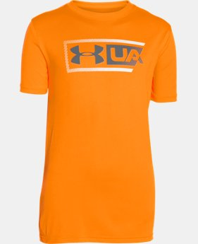 Boys' UA Dual Logo T-Shirt LIMITED TIME: UP TO 30% OFF 1 Color $13.99