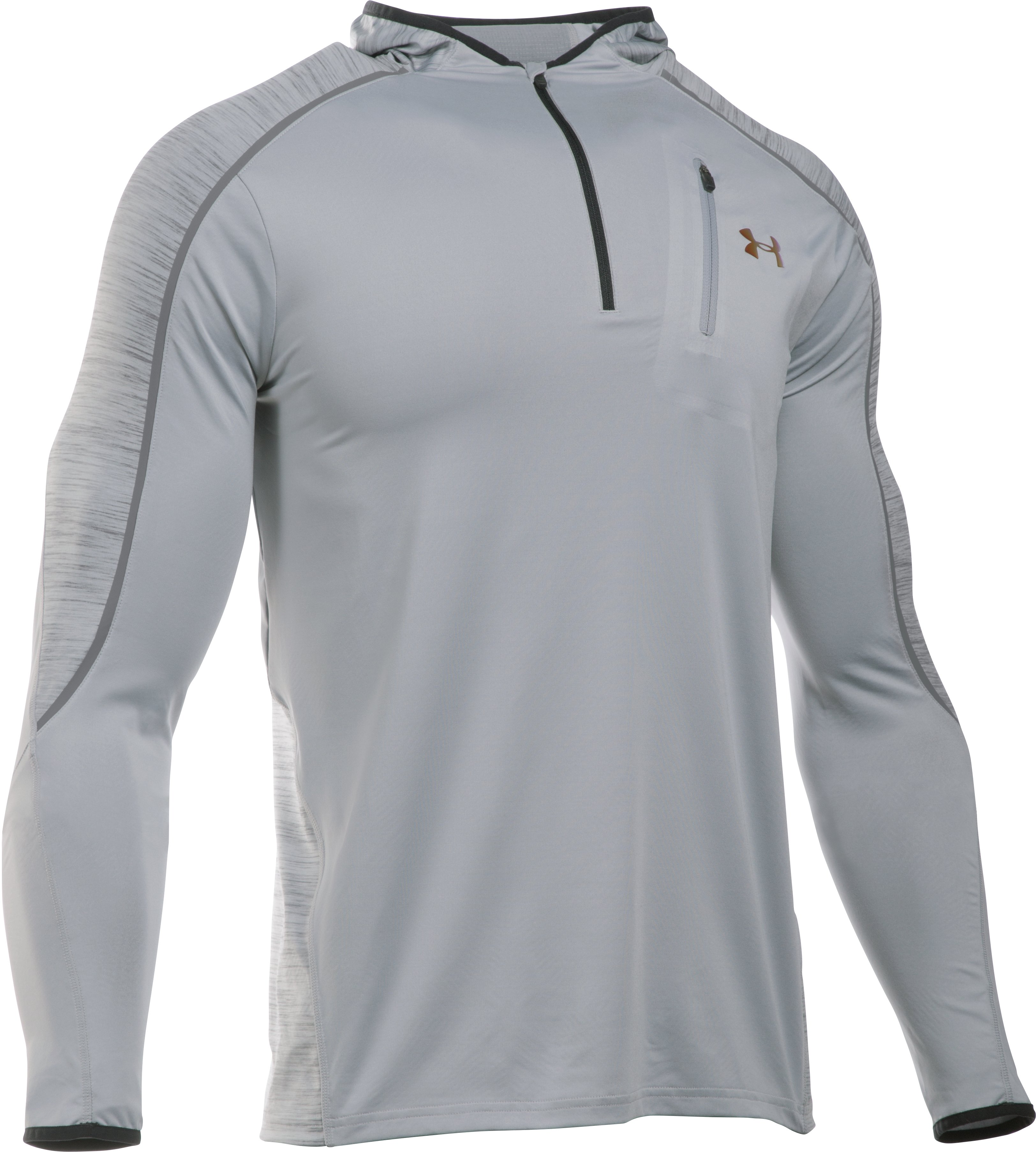 Men's UA CoolSwitch Run Road To Rio ¼ Zip, OVERCAST GRAY, undefined