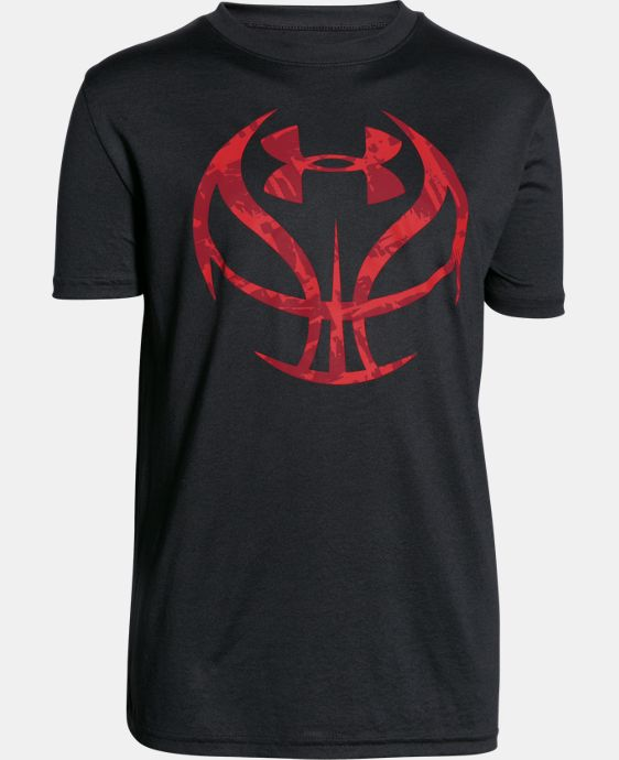 New Arrival  Boys' UA Basketball Logo T-Shirt LIMITED TIME: FREE SHIPPING 1 Color $22.99
