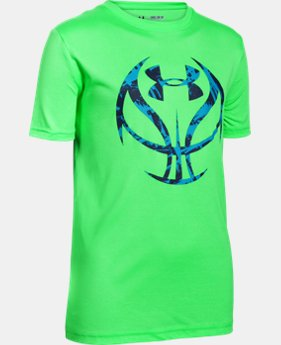 New Arrival  Boys' UA Basketball Logo T-Shirt  1 Color $22.99