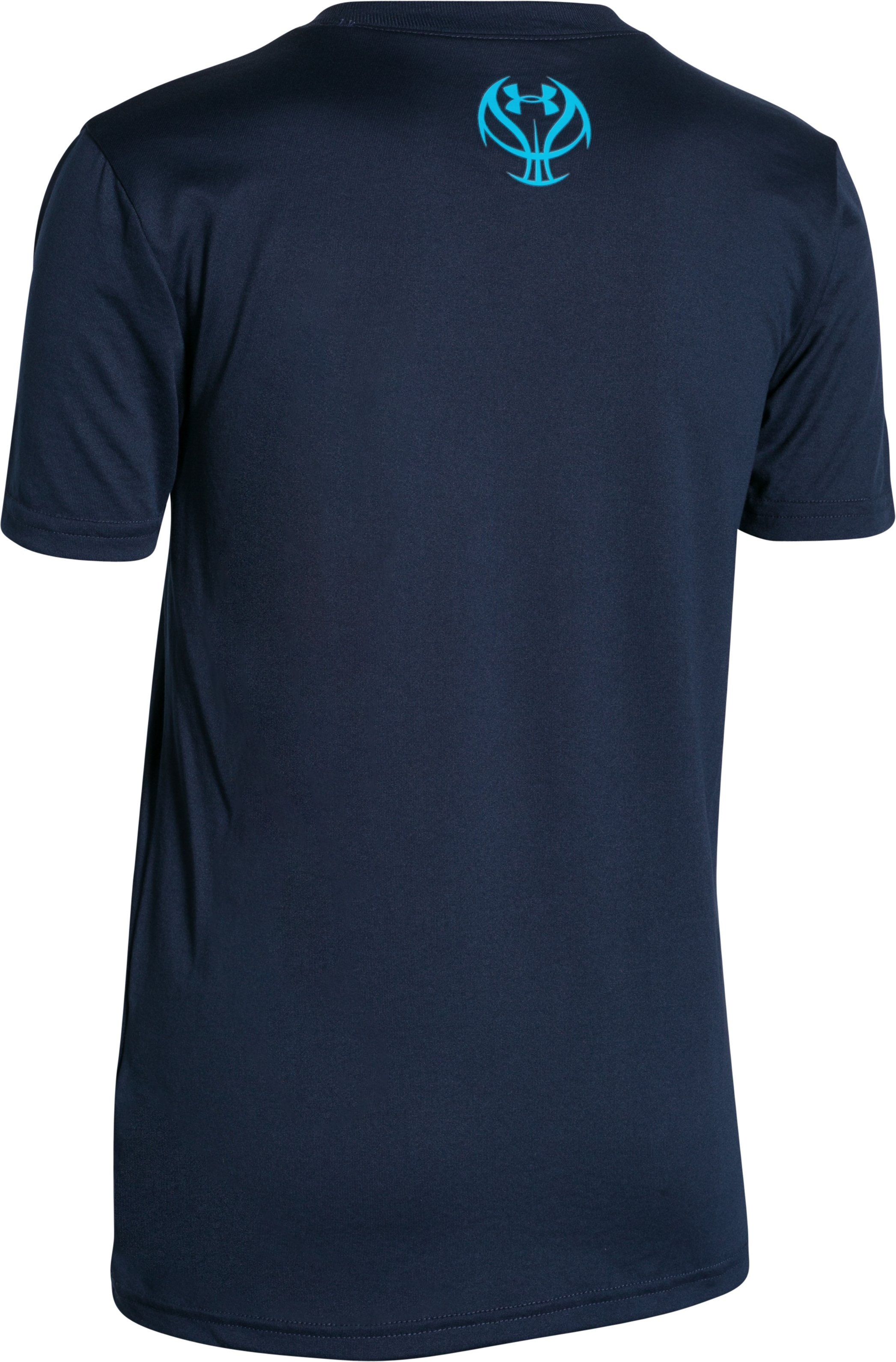 Boys' UA Basketball Logo T-Shirt, NAVY SEAL